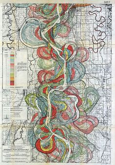Vintage Maps of the Mississippi River's Path Over Time