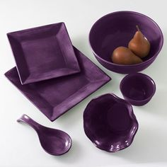 Image detail for -Purple Punch: Corsica Dinnerware & Accessories in Plum