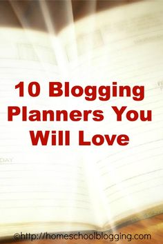 Blogging Planners - the best I could find - so excited to have this list!