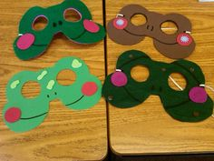 frog craft | Frog masks can be made any color. Just change the song.