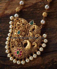 Peacock antique pendant