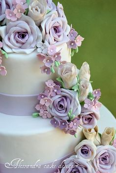 lavender wedding cake - Google Search