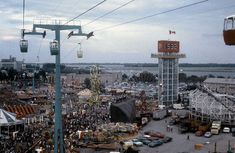 Toronto Then and Now: # 27 ~ Memories of the Canadian National Exhibition, Then and Now Meanwhile In Canada, Canadian Things, Toronto Ontario Canada, Time Photo, Old Ads, Amusement Park, Seattle Skyline, Growing Up, City