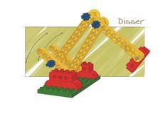 - LEGO Models (9654) | 2002 digger