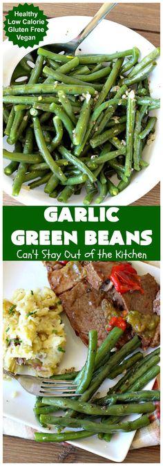 Vegetable Sides, Vegetable Side Dishes, Vegetable Recipes, Garlic Green Beans, Green Beans And Potatoes, Italian Pot Roast, Clean Eating, Healthy Eating, Green Bean Recipes