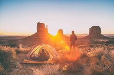 """Spend a night under the desert sky. Check out @kaminskiphotography's article, """"10 of Arizona's Best Campsites."""" Press the link in our bio to read more"""