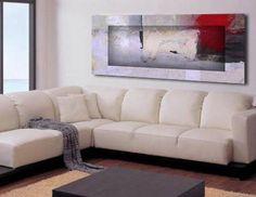 Cuadro Abstracto  sobre lienzo 3D.Pintura contemporanea de calidad .