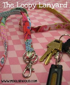 Ms. Elaineous Teaches Sewing: Free Pattern: The Loopy Lanyard