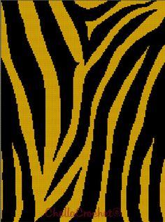 For Caleb. Crochet Tiger Stripes pattern graph.