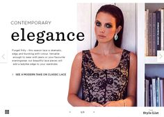 The Style List Contemporary Elegance - Lace Editorial