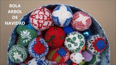 BOLA DE NAVIDAD agujas circulares - KNIT CHRISTMAS BALL - circular needles