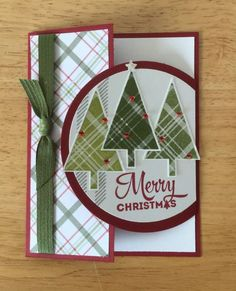Stampin Up Handmade Christmas Card Special Fold By inside Homemade Christmas Cards 2017 33201 Christmas Cards 2017, Beautiful Christmas Cards, Homemade Christmas Cards, Homemade Cards, Handmade Christmas, Christmas Trees, Christmas 2019, Stampin Up Christmas 2018, Xmas Cards Handmade