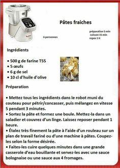 Pates fraiches Prep & Cook, Eat, Cooking, Pains, Diners, Robots, Macaroni, Cocktails, Pizza
