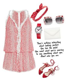 """""""Untitled #886"""" by nikola-sperlikova ❤ liked on Polyvore featuring Poupette St Barth, Loeffler Randall, Gucci, Mondaine, Charlotte Russe and Neiman Marcus"""