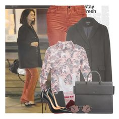 """""""57. Selena Gomez leaving Boneyard Bistro restaurant in Sherman Oaks, CA."""" by gomezrevivals ❤ liked on Polyvore featuring J Brand, Topshop, Miss Selfridge, Case-Mate, Givenchy, Christian Louboutin and Oliver Peoples"""