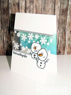 Create a smile: Welcome to our November Guest designer: Vanessa Amann November, Smile Smile, Snowman Cards, Winter Cards, Craft Tutorials, Welcome, Cardmaking, Designer, Stampin Up