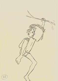 """Milt Kahl, from """"The Jungle Book"""""""