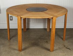 Round Table by Jens Quistgaard for Nissen | From a unique collection of antique and modern dining room tables at https://www.1stdibs.com/furniture/tables/dining-room-tables/