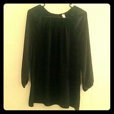Black blouse Black Polyester blouse Old Navy Tops Blouses