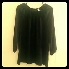 Black blouse Black Polyester blouse Old Navy Tops Blouses