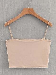 Color: Apricot Composition: Polyester, Cotton Style: Casual, Basics Pattern Type: Plain Bust (cm): S: cm, M: cm Length (cm): S: 23 cm, M: 24 cm Neckline: Spaghetti Strap Fabric: Fabric is very stretchy Type: Cami Length: Crop Fit Type: Slim Fit Age: Young Grunge Look, Style Grunge, 90s Grunge, Soft Grunge, Grunge Outfits, Cami Tops, Cute Tank Tops, Cami Crop Top, Cute Shirts