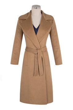 Oh so classic - a winter 2014 purchase Herringbone Sydney | Fawn Wool Coat