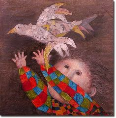Graciela Rodo Boulanger was born in 1935 in La Paz, Bolivia, and grew up in Oruro, a city 200 kilometers south of La Paz that has for ye. Great Paintings, Watercolor Paintings, Blue Horse, First Art, Face Art, Great Artists, Amazing Art, Art For Kids, Cool Art