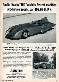 1954 Austin-Healey 100 Advertisement Road & Track December 1954 | Flickr - Photo Sharing!