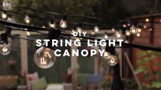 Added some extra ambiance to your outdoor space with string lights. - Added some extra ambiance to your outdoor space with string lights. 😌✨ Learn more about our Make It Over series and check out the full DIY right here! Diy Outdoor Table, Outdoor Crafts, Outdoor Spaces, Diy Outdoor Party, Outdoor Projects, Backyard Lighting, Outdoor Lighting, Backyard Lights Diy, Garden Lighting Ideas