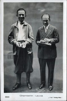 Clarence Chamberlin und Charles Levin, Berlin 1927