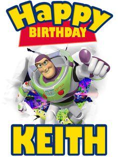 Personalized Custom Birthday T-shirt Disney Toy Story Buzz Lightyear