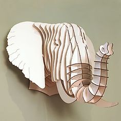 cabeza elefante carton