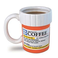 Pill bottle Coffee Mug! Get yours at www.NurseCrush.com !!! #clothing #fashion #funny #health #nurse #nursing #hospital #shirt #workout #training #pretty #uniform #pen #schoolsupplies #backtoschool #funny #syringe #coffee #mug #drink