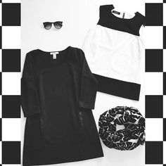 Classic Black & White. #mod #fashion #blackandwhitephotography #stylebox #subscriptionbox #ladiesstylebox #ootd #ninewest #anntaylor #whbm #personalstylist