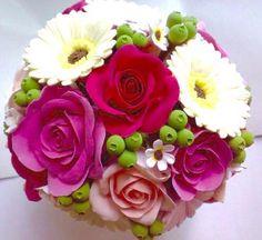 flower posy made of light clay Fb: facebook.com/crafternovice YT: youtube.com/c/crafternovice Blog: http://crafternovice.blogspot.hk