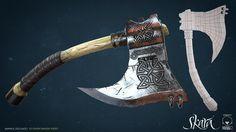 Tamvaasa Axe 2- Skara, SKARA The Blade Remains on ArtStation at https://www.artstation.com/artwork/V8kJR