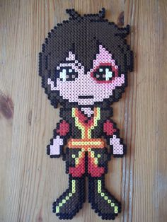 Avatar The Last Airbender Zuko hama wall deco by beadstoterabithia - Picture this knitted
