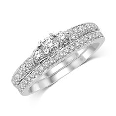 *Extra 10% off on our store plus No Shipping Charges! Period. 14K White Gold 1/... Check it out here! http://shirindiamond.net/products/14k-white-gold-1-2-ct-tw-diamond-bridal-ring?utm_campaign=social_autopilot&utm_source=pin&utm_medium=pin