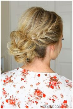 Going to homecoming?! School has started and that means dances! With Homecoming right around the corner I�d thought it�d be great to share a fun formal hairstyle that would be perfect for the occasion. This style is actually a lot easier to do than it looks so I hope you love it.��If you�re going to homecoming this year and loved this hairstyle then be sure to leave a comment down below and let me know! Double Lace Braids Updo Instructions: Step 1 / Begin by parting the hair where you…