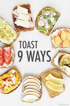 Easy Toast Ideas for an Easy Breakfast!