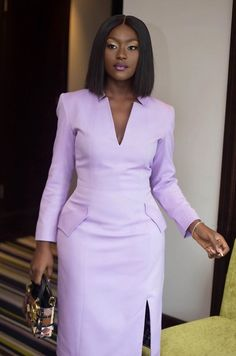 Classy Work Outfits, Office Outfits Women, Classy Dress, Chic Outfits, Dress Outfits, Fashion Outfits, Ankara Dress Styles, African Print Dresses, African Dress