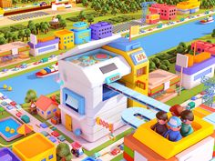 Miniature city(WIP) designed by Ryogo Toyoda. Connect with them on Dribbble; the global community for designers and creative professionals. Game Ui Design, 3d Design, Isometric Cube, Wallpaper Collection, 3d Artwork, Game Assets, Environment Concept Art, Cartoon Kids, Motion Design