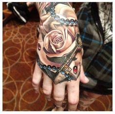 Fricken amazazing hand tattoo