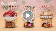 EasyTutorial - How to Make  a Pincushion Jar  My channel Haykanush DIY  https://www.youtube.com/user/MsSvoimirukami/ ✔ facebook  https://www.facebook.com/Haykanush-DIY-823617134328098/ ✔ vk.com https://vk.com/club107707927  #haykanushdiy  #pincushion