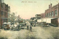 Main Street, Spencer, Iowa, 1910