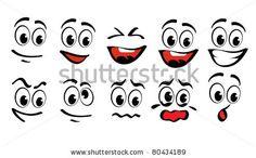 Cartoon faces  for humor or comics design