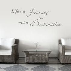 Life's a Journey - Quote - Wall Decals Stickers Graphics