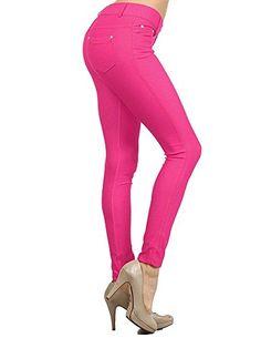 Enimay Women's Colored Jean Look Jeggings Tights Spandex Leggings Yoga Pants Fuchsia Small Enimay http://www.amazon.com/dp/B0163JT246/ref=cm_sw_r_pi_dp_4pTFwb1F3RZXX