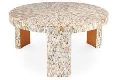"""Blake 39"""" Coffee Table, Shell"""