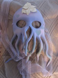Bride of Cthulhu Mind Flayer Handmade Leather Halloween Mask. $79.00, via Etsy.